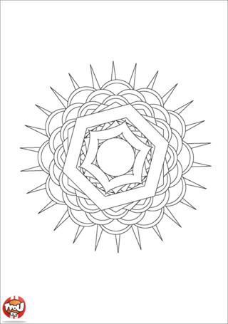 Coloriage: Mandala 13