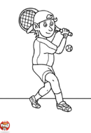 Garçon joue au tennis