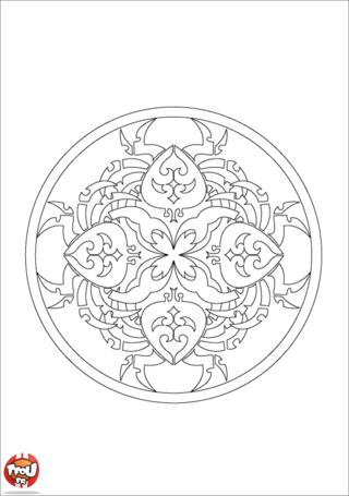 Coloriage: Mandala 15