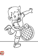 Petit garçon rattrape la balle