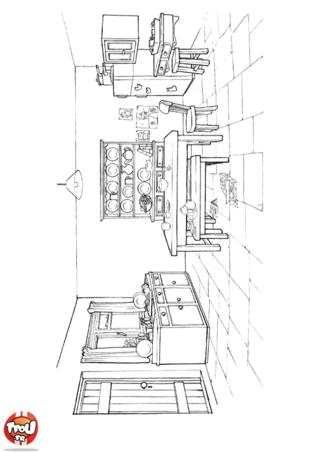 Coloriage: La salle à manger