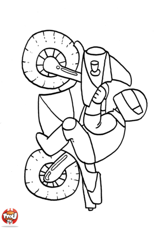 Coloriage: Motard