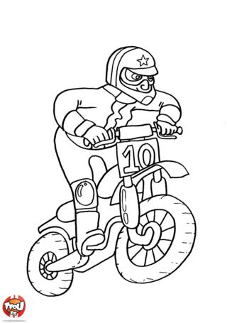 Coloriage: Motocross