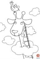 Une girafe dans les nuages