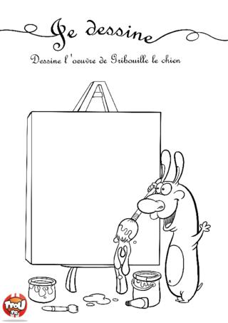 Coloriage: L'oeuvre de Gribouille