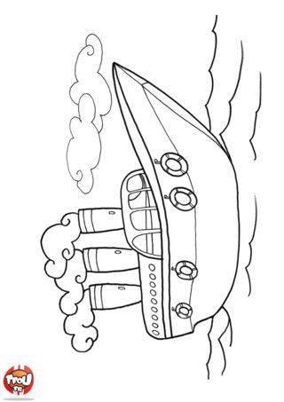 Coloriage: Le bateau à vapeur