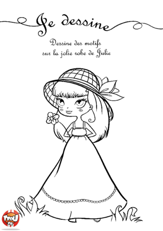 Coloriage: La robe de Julie