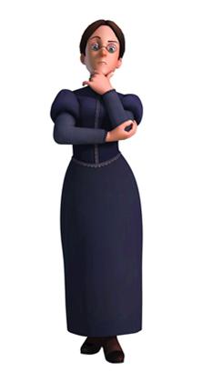 Mlle Rottenmeier - La gouvernante de la maison Sesemann
