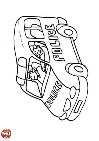 Related pictures imprimer coloriage bateau voiture bed - Voiture de police coloriage ...