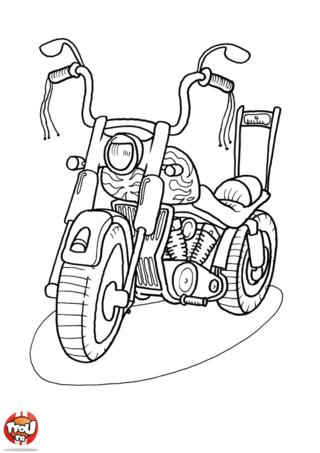 Coloriage: La Harley