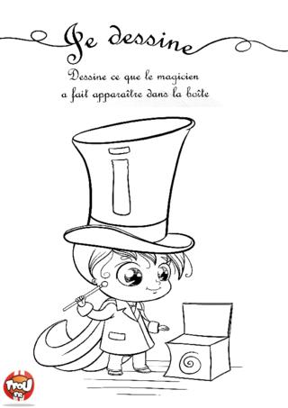 Coloriage: Le magicien