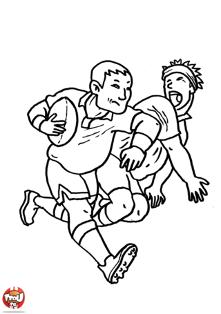 Coloriage: Rugbymen
