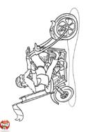 Un motard barbu