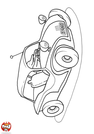 Coloriage: Une voiture buggy