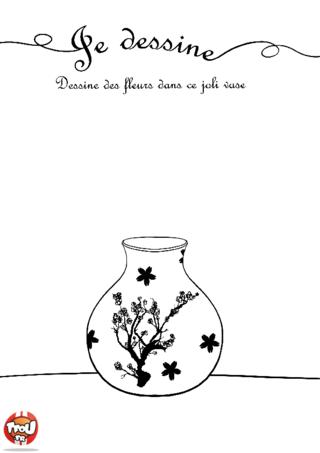Coloriage: Les fleurs dans le vase