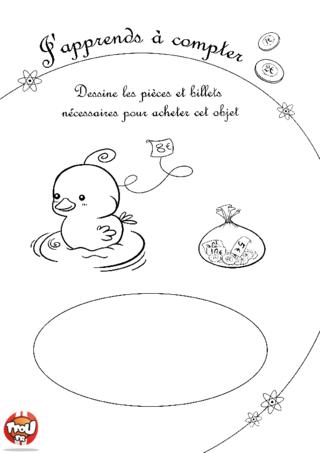 Coloriage: Les pièces 4