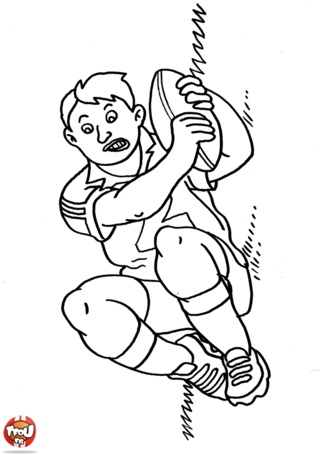 Coloriage: Rugby