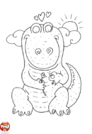 Dinosaure amoureux