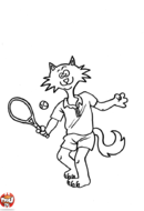 Chat tennisman