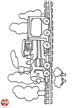 Coloriage: Train