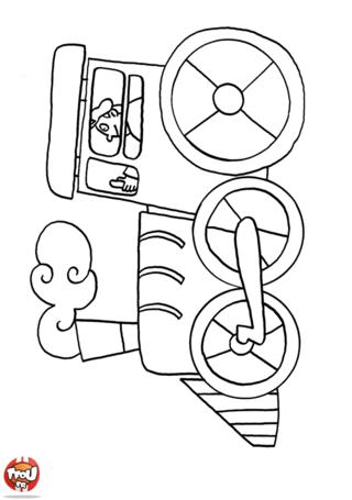 Coloriage: Locomotive
