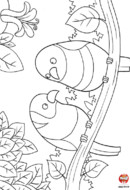 Les oiseaux sur une branche
