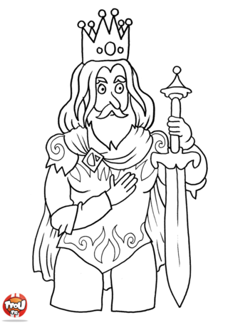 Coloriage: Le Roi et son épée