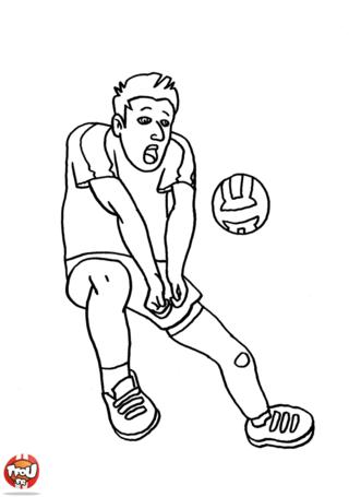 Coloriage: Volleyeur