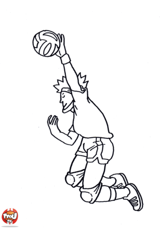 Coloriage: Smatch de volley