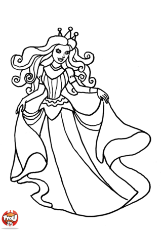 Coloriage: Belle