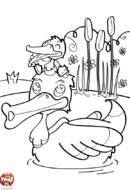 Papa canard et bébé canard