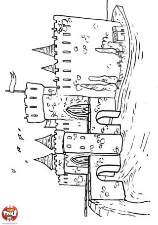 Coloriage: Château 2