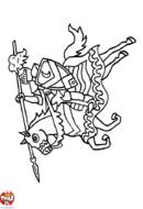 Chevalier sur son cheval