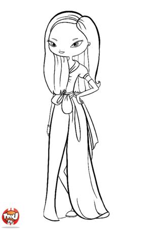 Coloriage: Jolie robe
