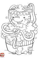 Pieuvre dans son bain