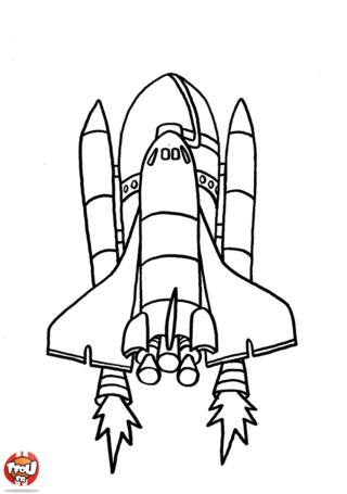 Coloriage: Décollage de la fusée