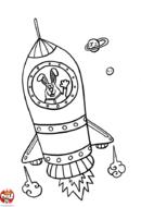 La fusée du lapin astronaute