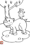 Papa cochon et bébé cochon