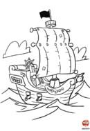 coloriage_Le bateau pirate