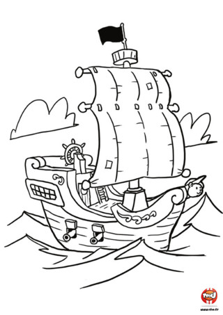 Pin coloriage tfou fr promenade voile gif on pinterest - Bateau pirate coloriage ...