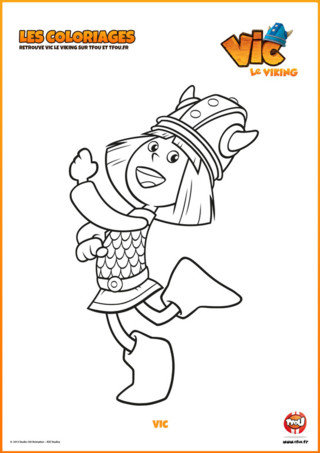 Imprime vite ton coloriage Vic le Viking. Découvre cet enfant ingénieux à travers ses épisodes ...