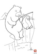 L'ours polaire pêche