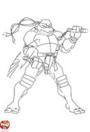 Tortue Ninja s'entraîne