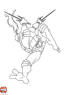 Tortue Ninja saute