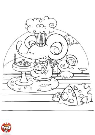 Coloriage: Festin de souris