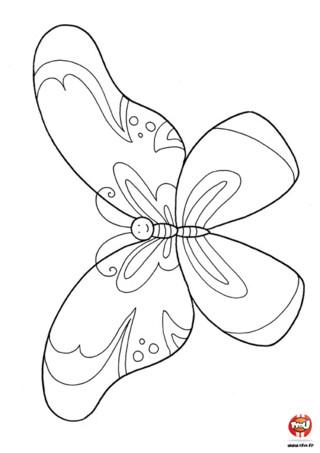 Coloriage : Le beau papillon. Imprime vite ce magnifique coloriage de papillon et rend le encore plus beau en t'armant de tes meilleurs feutres et crayons de couleurs. C'est à toi de jouer.