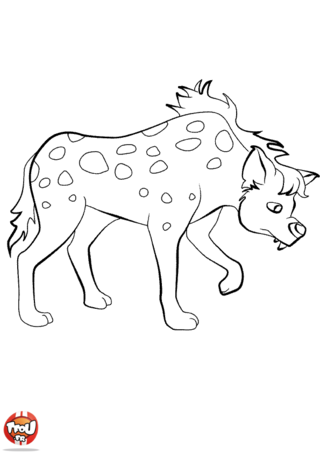 Coloriage: Hyène