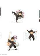 Stickers Mini Ninjas - Découpe et colle ! Activités TFou.fr