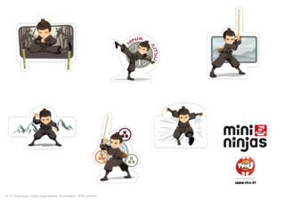 Rien que pour toi : imprime les stickers de ton personnage Mini Ninja préféré : Hiro ! Fais comme eux, amuse-toi : imprime gratuitement ces stickers sur Tfou.fr et refais ta décoration ! Ta chambre, tes cahiers,... Amuse toi à personnaliser ton espace et tes affaires ! Exercés aux arts martiaux, aux techniques de combat ninja et dotés de pouvoirs magiques, les Mini Ninjas sont toujours prêts à se battre pour libérer les animaux. Pour autant, n'oublions pas qu'ils ne sont encore que des enfants : la moindre occasion est bonne pour s'amuser !