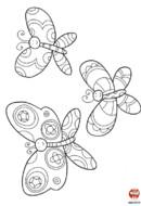 Trois jolis papillons